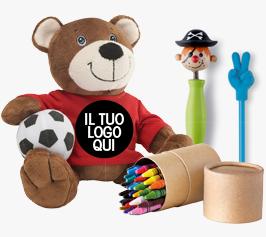Fornitura Gadget Bambini personalizzati online Extrò Gadget divertenti vendita articoli personalizzati economici Milano